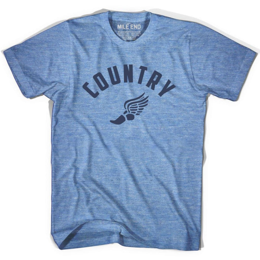 Country Track T-shirt - Athletic Blue / Adult X-Small - Mile End Track