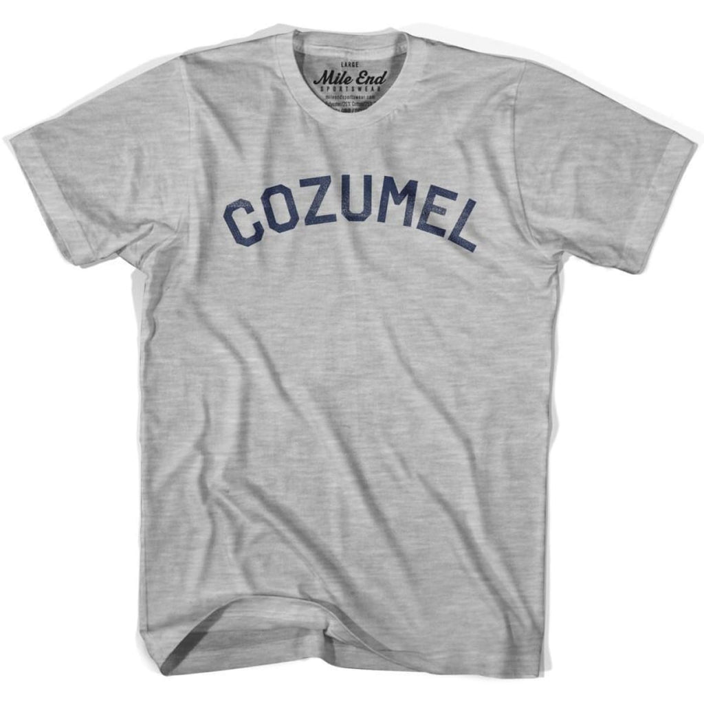 Cozumel City Vintage T-shirt - Grey Heather / Youth Small - Mile End City