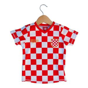 Croatia Checkerboard Soccer Jersey - Red / Toddler 1 / No - Ultras Country Soccer Jerseys