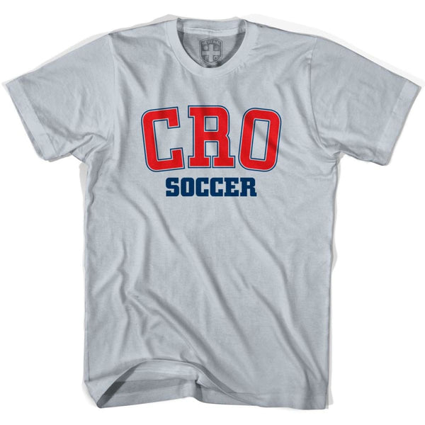 Croatia CRO Soccer Country Code T-shirt - Silver / Youth X-Small - Ultras Soccer T-shirts
