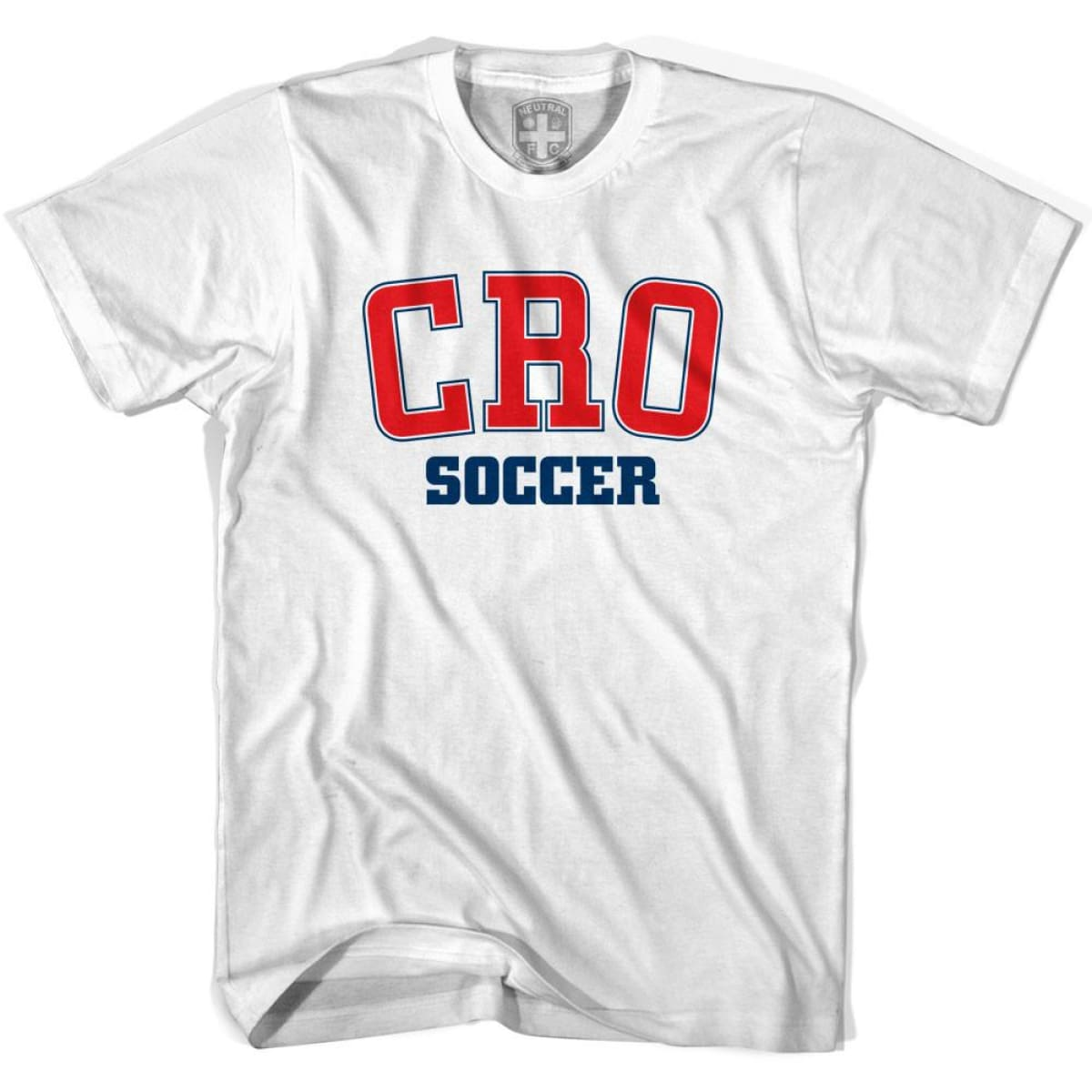 Croatia CRO Soccer Country Code T-shirt - White / Youth X-Small - Ultras Soccer T-shirts