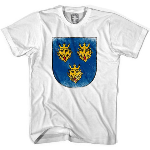 Croatia Golden Lions Crest Soccer T-shirt - White / Youth X-Small - Ultras Soccer T-shirts