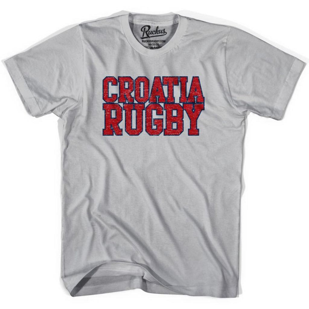 Croatia Rugby Nations T-shirt - Cool Grey / Youth Small - Rugby T-shirt
