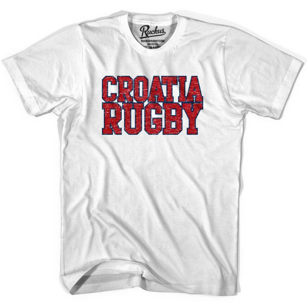 Croatia Rugby Nations T-shirt - Cool Grey / Youth X-Small - Rugby T-shirt