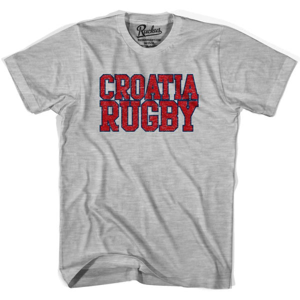 Croatia Rugby Nations T-shirt - Heather Grey / Youth X-Small - Rugby T-shirt