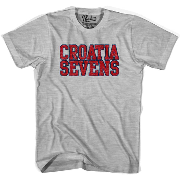Croatia Sevens Rugby T-shirt - Heather Grey / Youth X-Small - Rugby T-shirt