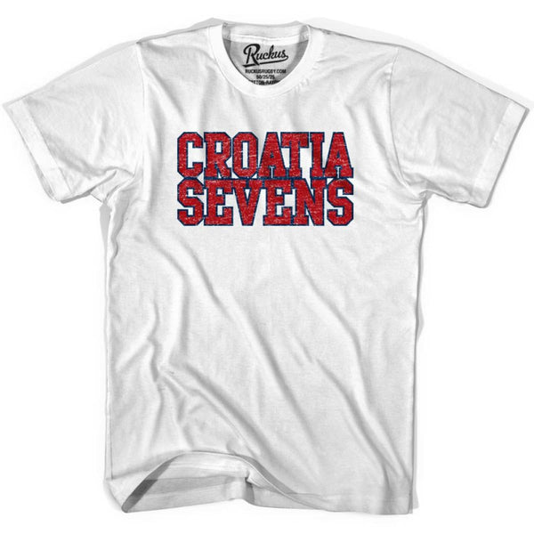 Croatia Sevens Rugby T-shirt - White / Youth X-Small - Rugby T-shirt