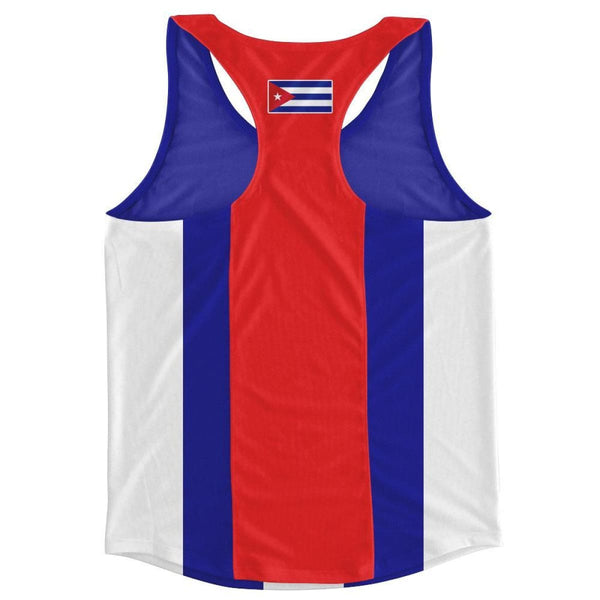 Cuba Country Flag Running Tank Top Racerback Track and Cross Country Singlet Jersey - Running Top