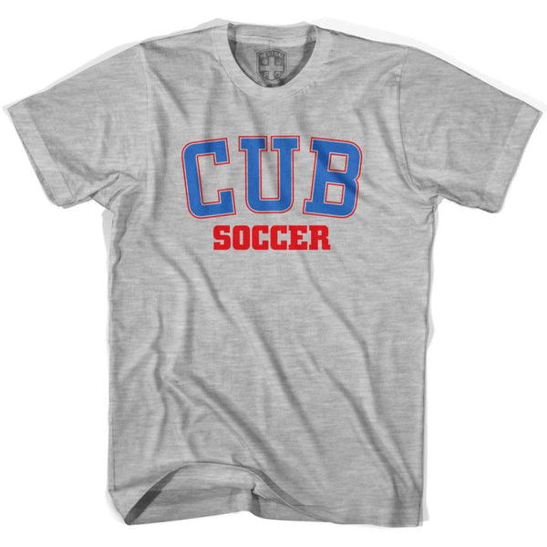 Cuba CUB Soccer Country Code T-shirt - Grey Heather / Youth X-Small - Ultras Soccer T-shirts