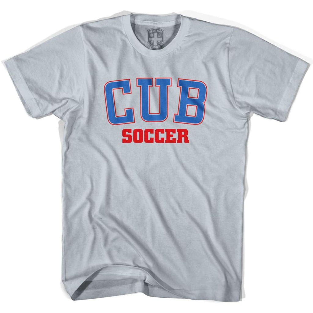 Cuba CUB Soccer Country Code T-shirt - Silver / Youth X-Small - Ultras Soccer T-shirts
