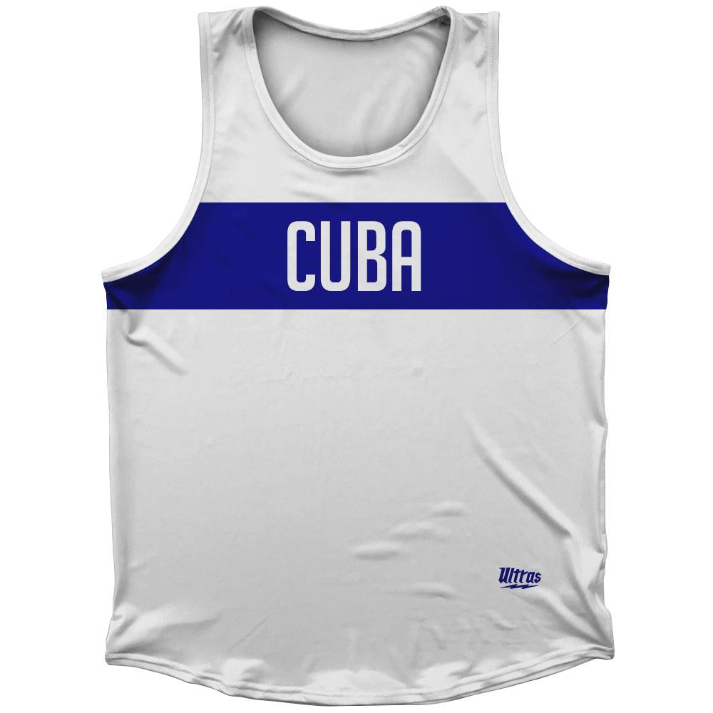 Cuba Country Finish Line Athletic Sport Tank Top Made In USA