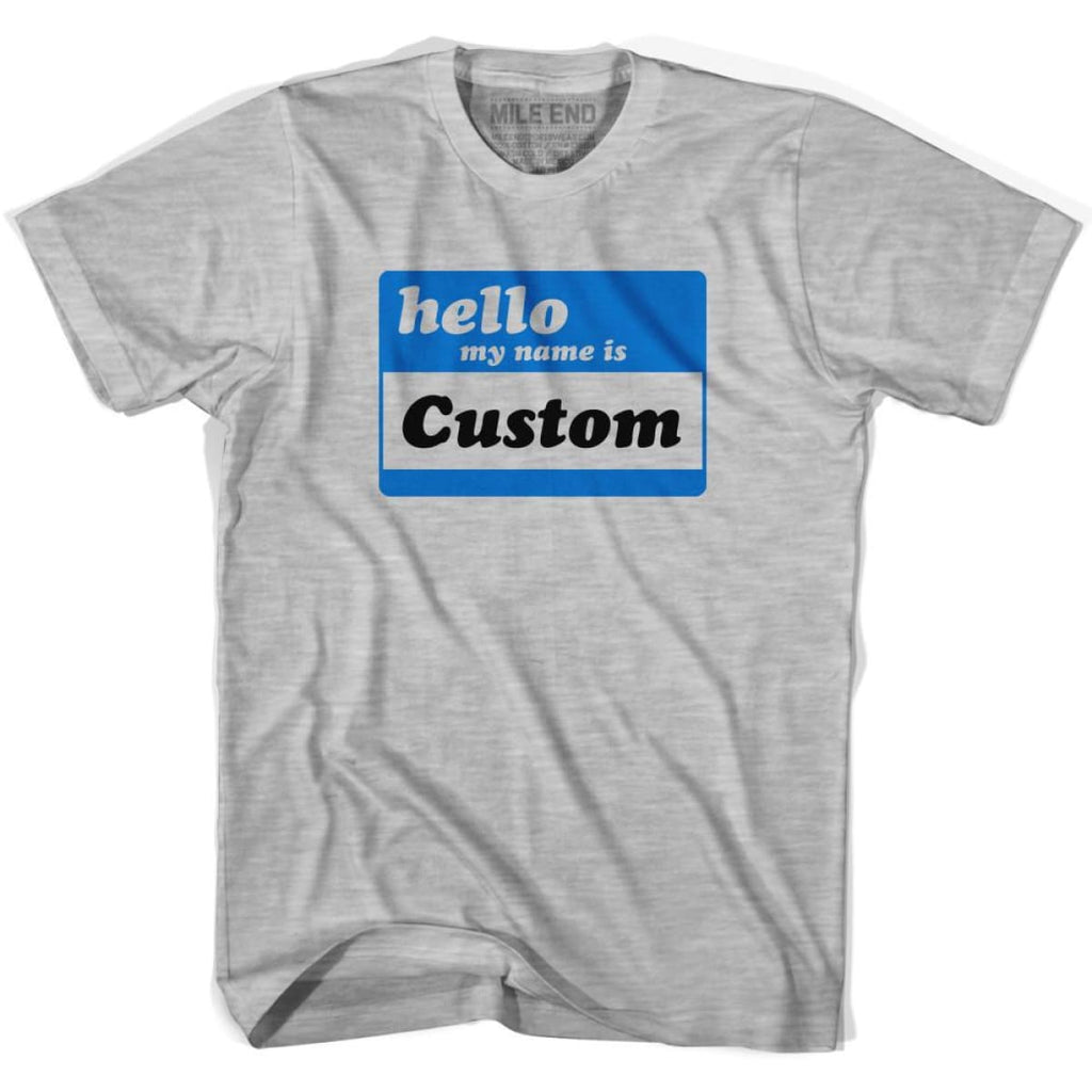 Custom Hello My Name Is Large Chest Area T-shirt - White / Youth X-Small / Yes (+$10) - Mile End Custom