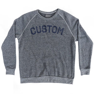 Custom City Crewneck Adult Tri-Blend Sweatshirt