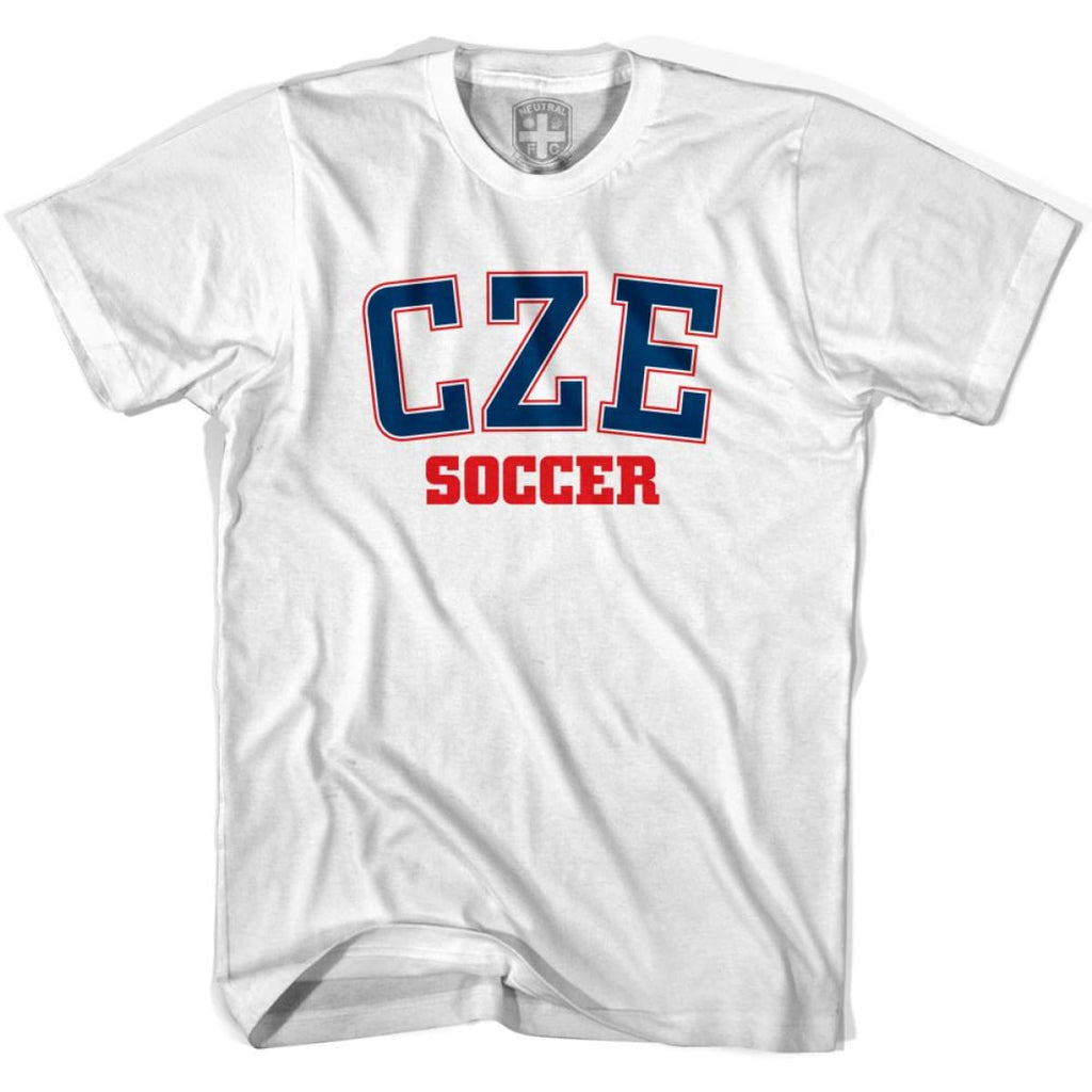 Czech Republic CZE Soccer Country Code T-shirt - White / Youth X-Small - Ultras Soccer T-shirts