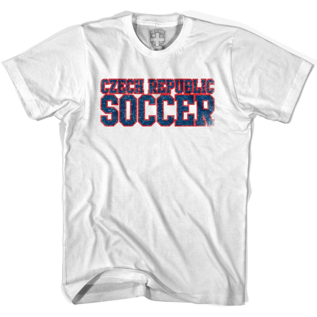 Czech Republic Soccer Nations World Cup T-shirt - White / Youth X-Small - Ultras Soccer T-shirts