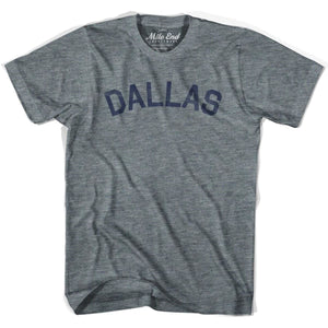 Dallas City Vintage T-shirt - Athletic Grey / Adult X-Small - Mile End City