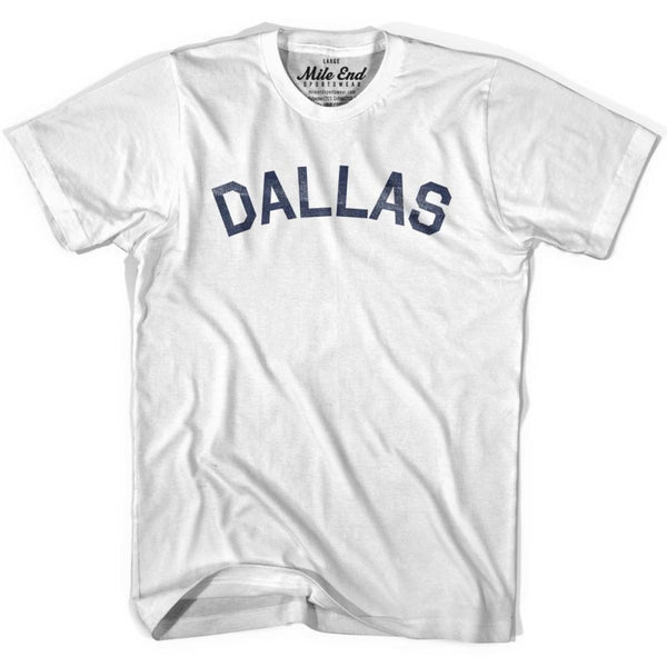 Dallas City Vintage T-shirt - White / Youth X-Small - Mile End City