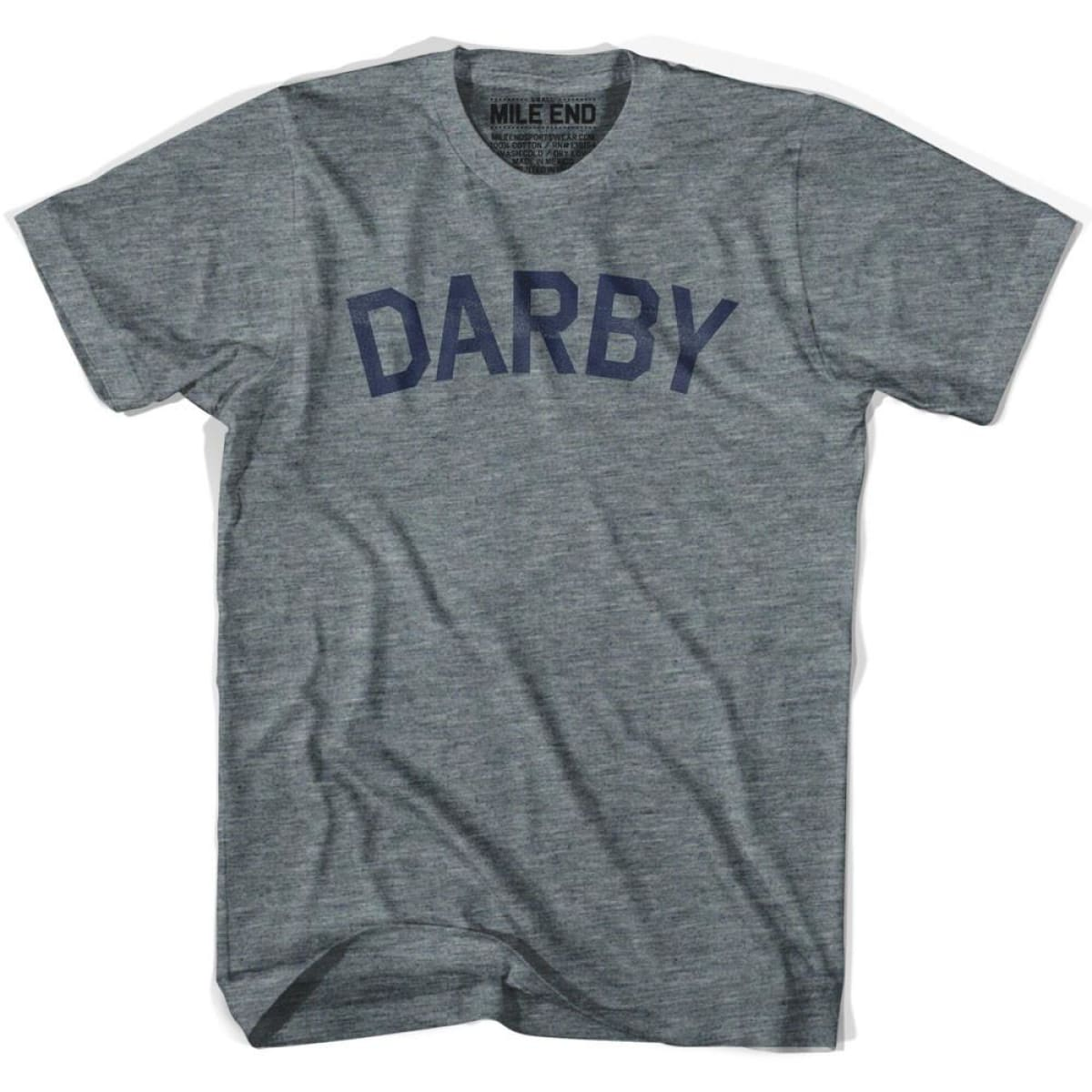 Darby City Vintage T-shirt - Athletic Grey / Adult X-Small - Mile End City