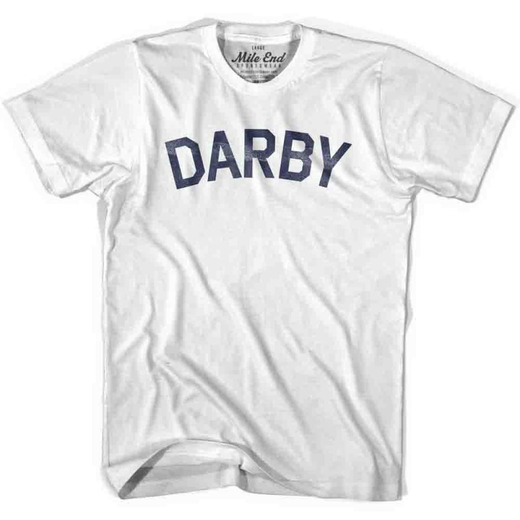 Darby City Vintage T-shirt - White / Youth X-Small - Mile End City