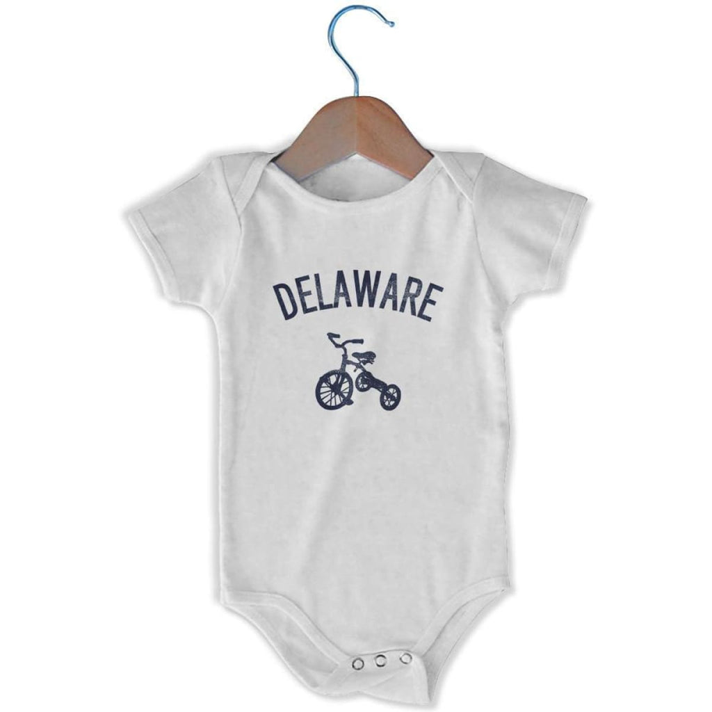 Delaware City Tricycle Infant Onesie - White / 6 - 9 Months - Mile End City
