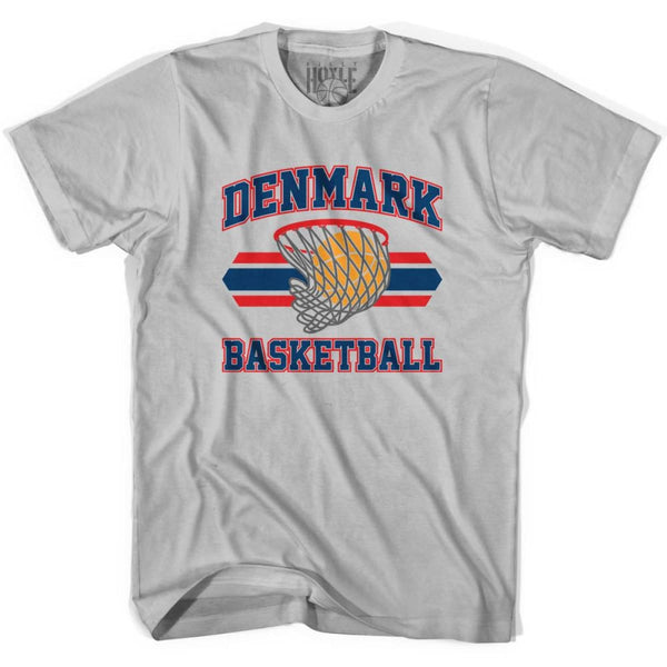 Denmark 90s Basketball T-shirts - Silver / Youth X-Small - Basketball T-shirt