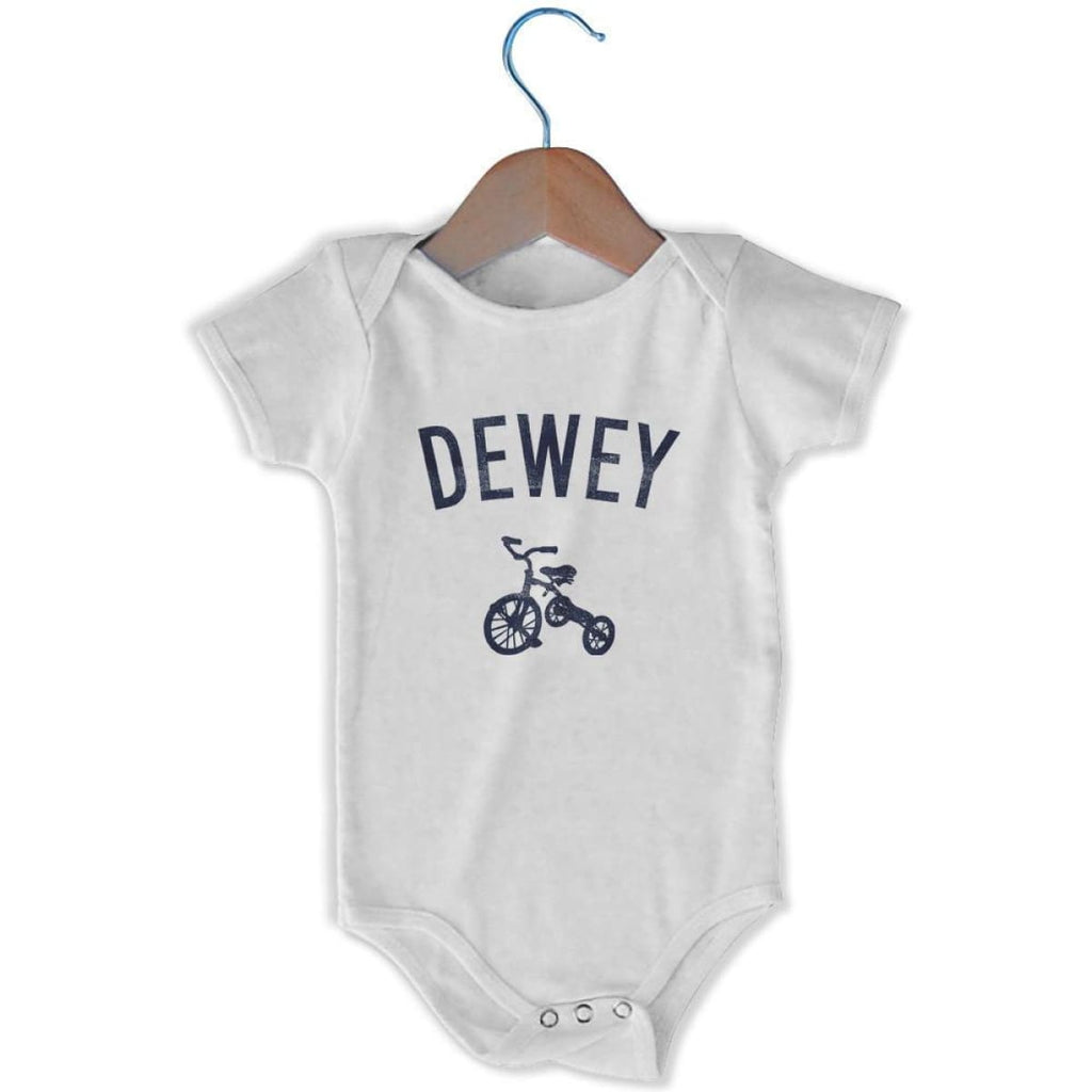 Dewey City Tricycle Infant Onesie - White / 6 - 9 Months - Mile End City