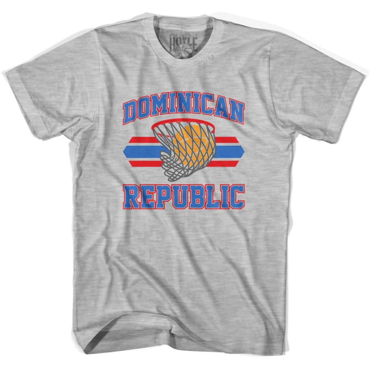 Dominican Republic 90s Basketball T-shirts - Grey Heather / Youth X-Small - Basketball T-shirt
