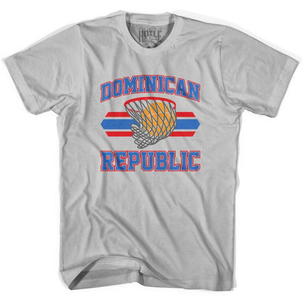 Dominican Republic 90s Basketball T-shirts - Silver / Youth X-Small - Basketball T-shirt