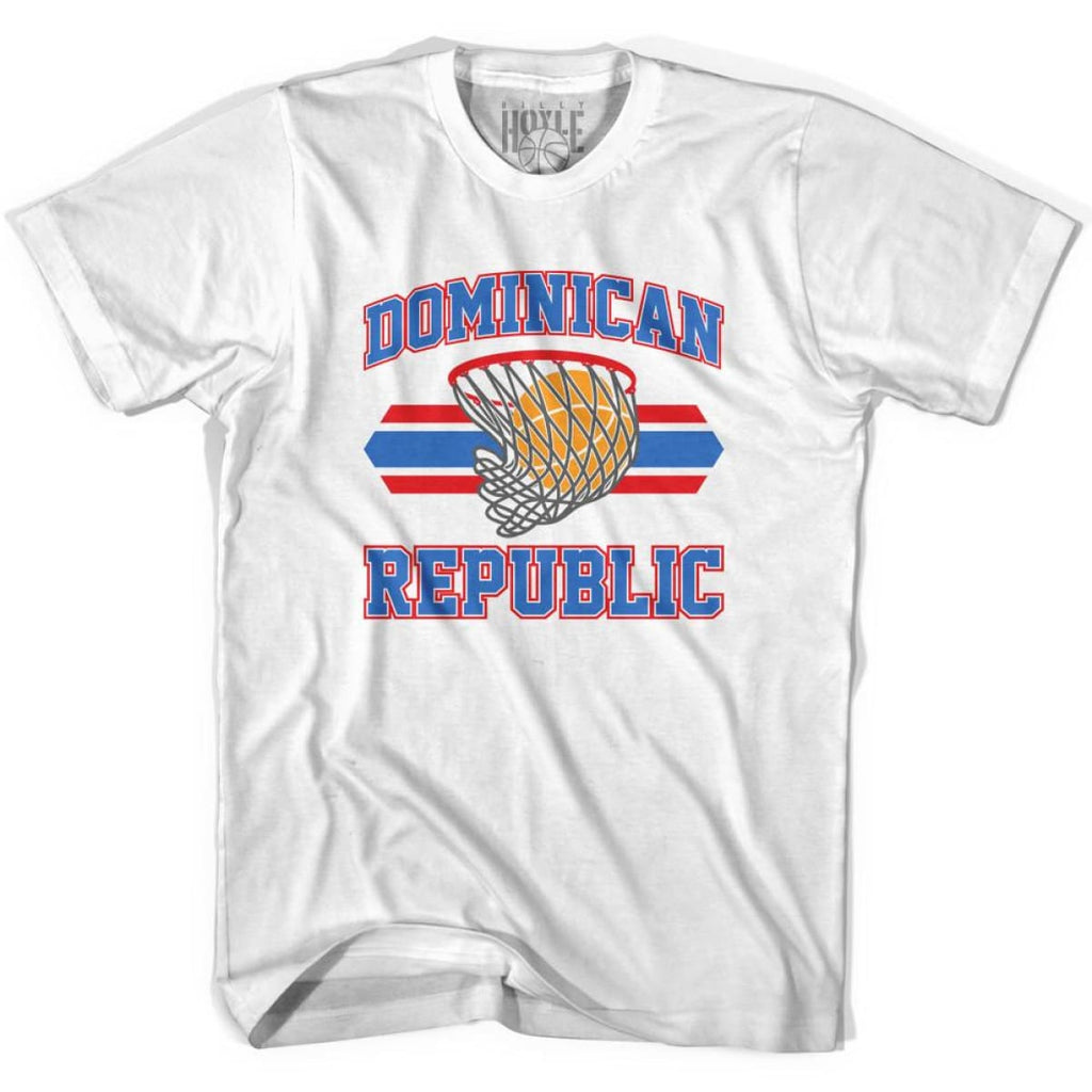 Dominican Republic 90s Basketball T-shirts - White / Youth X-Small - Basketball T-shirt