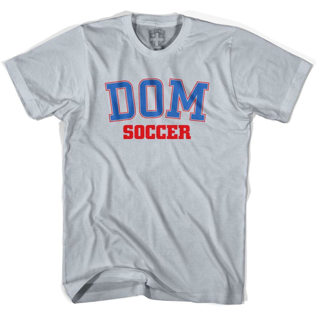 Dominican Republic DOM Soccer Country Code T-shirt - Silver / Youth X-Small - Ultras Soccer T-shirts