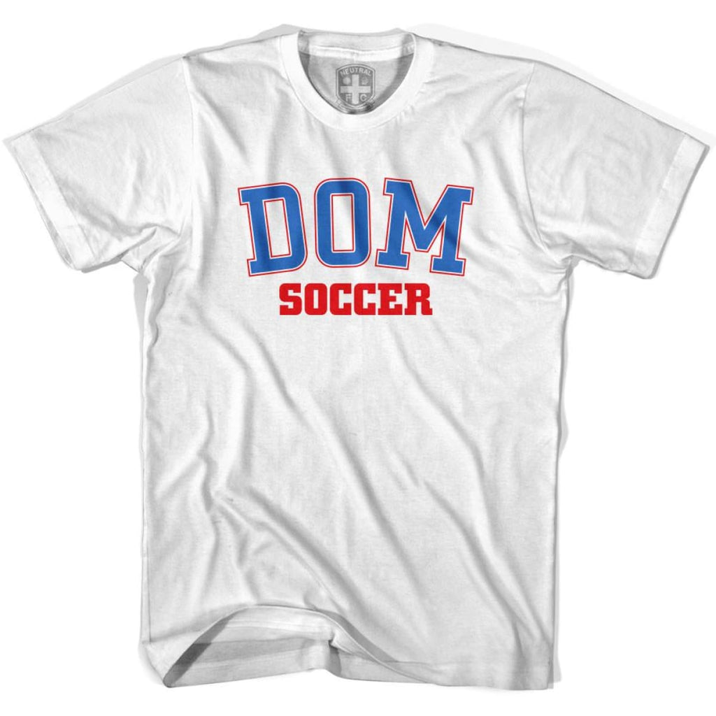 Dominican Republic DOM Soccer Country Code T-shirt - White / Youth X-Small - Ultras Soccer T-shirts