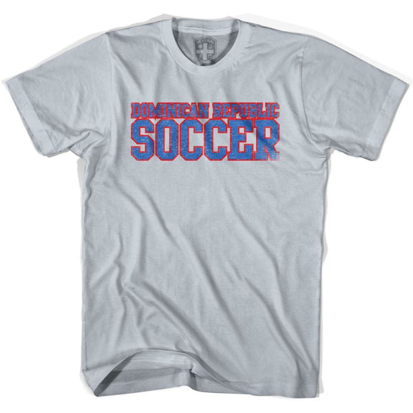 Dominican Republic Soccer Nations World Cup T-shirt - Silver / Youth X-Small - Ultras Soccer T-shirts