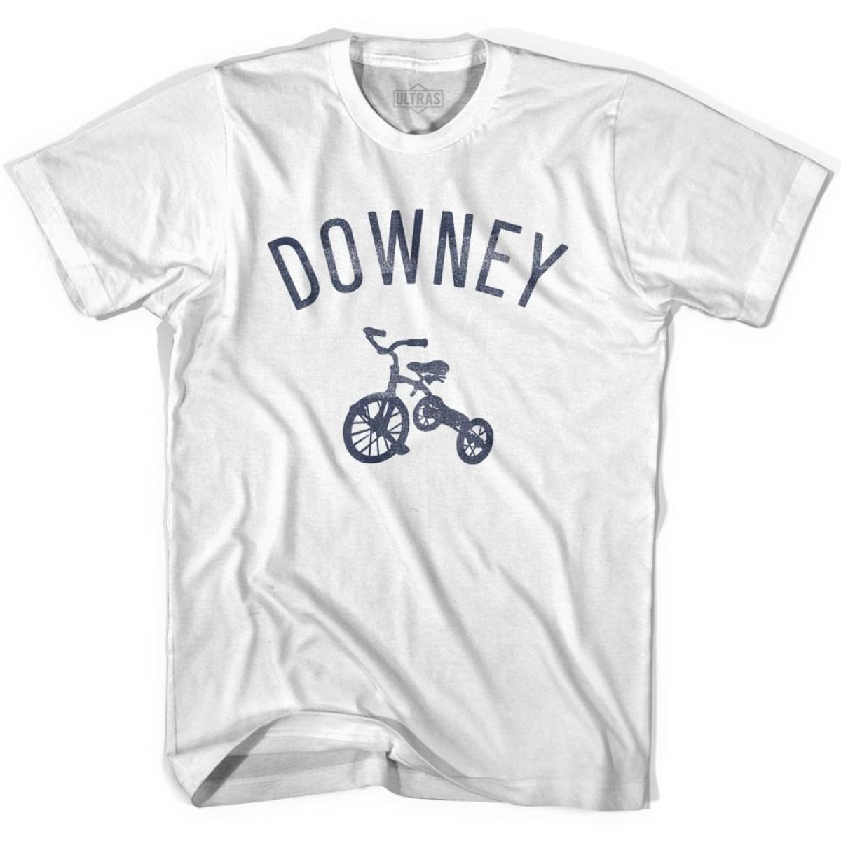 Downey City Tricycle Womens Cotton T-shirt - Tricycle City