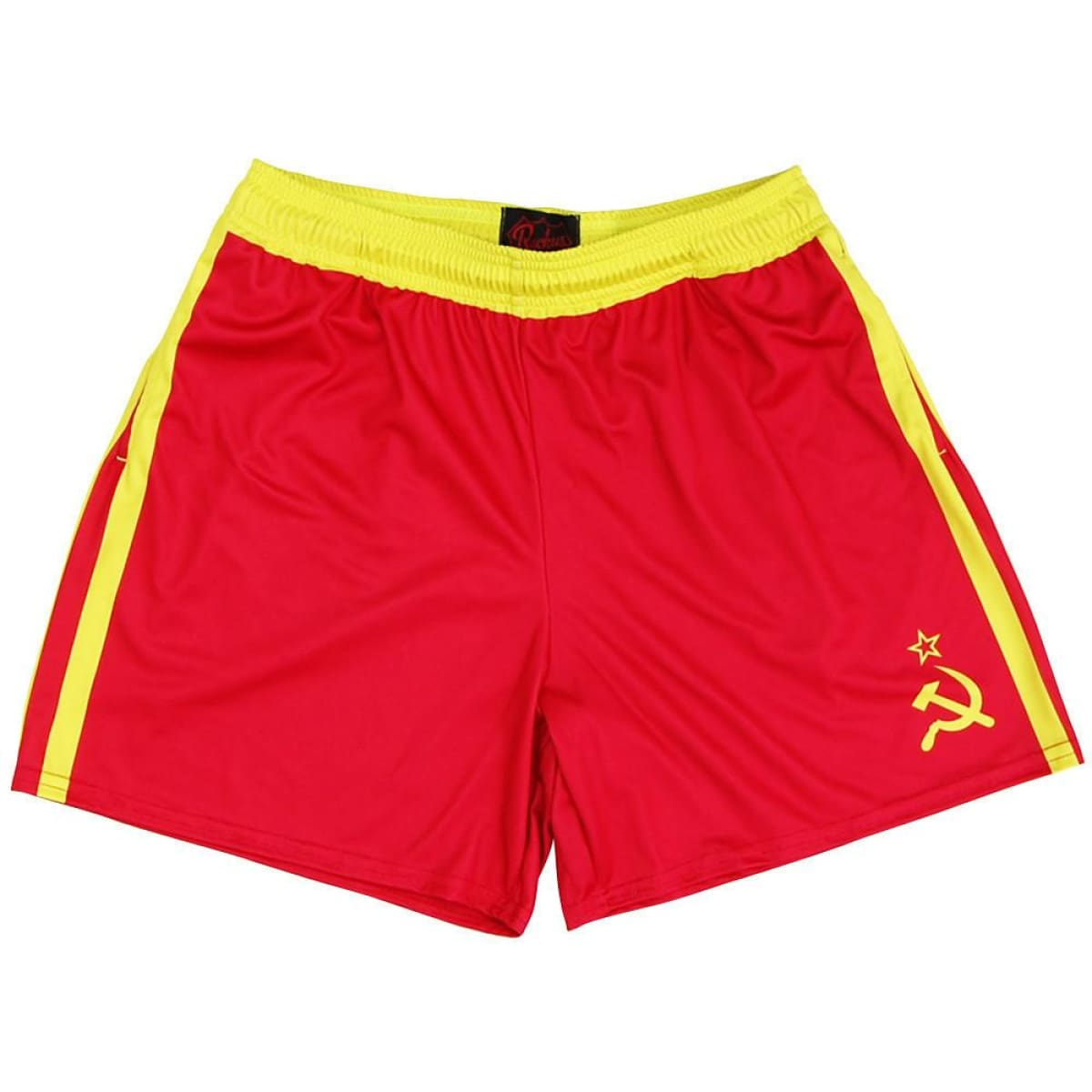Drago Rocky Rugby Shorts - Red and Yellow / Adult Small - Rugby Cut Training Shorts