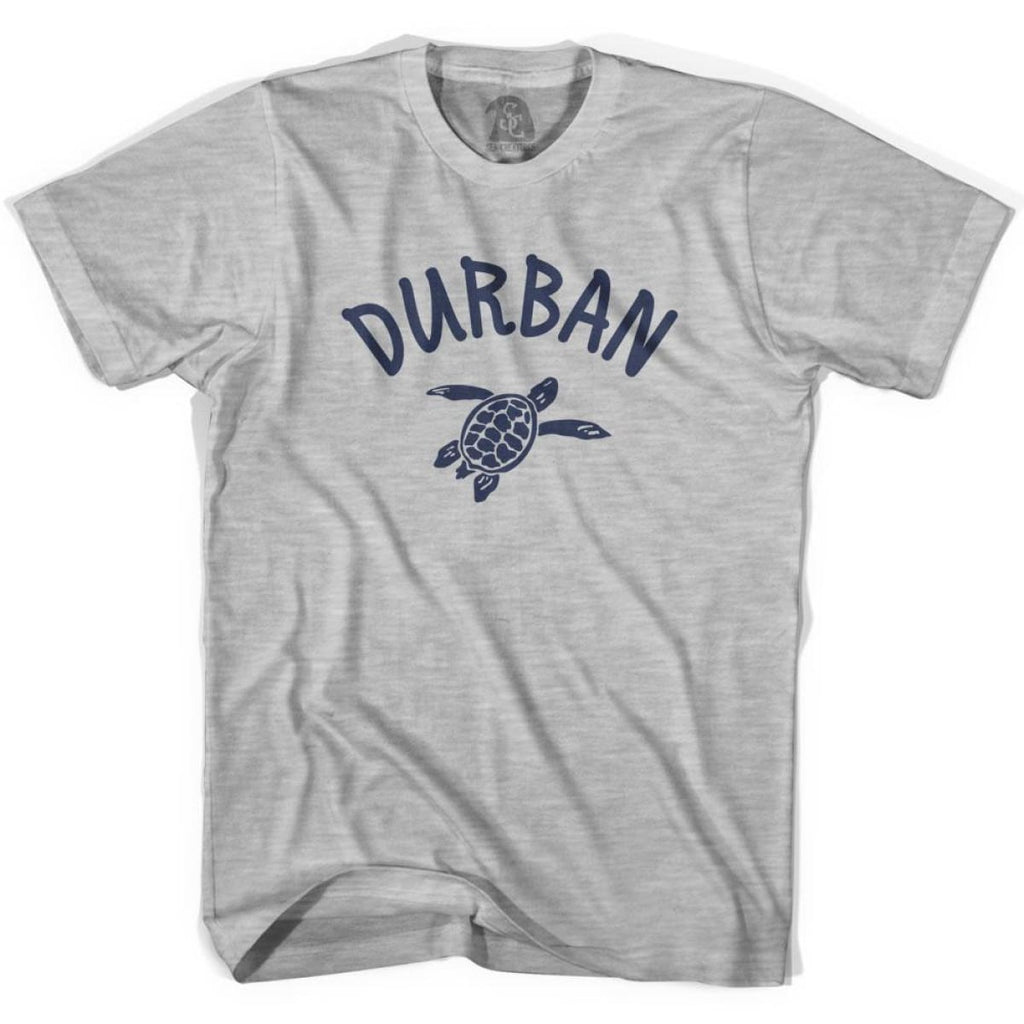 Durban Beach Sea Turtle Youth Cotton T-shirt - Grey Heather / Youth X-Small - Turtle T-shirts