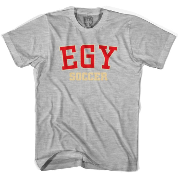 Egypt EGY Soccer Country Code T-shirt - Grey Heather / Youth X-Small - Ultras Soccer T-shirts