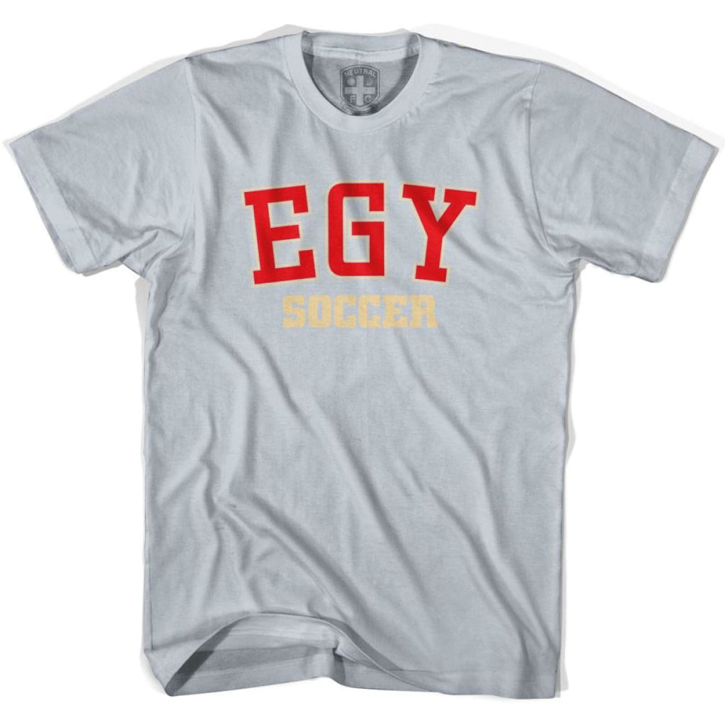 Egypt EGY Soccer Country Code T-shirt - Silver / Youth X-Small - Ultras Soccer T-shirts
