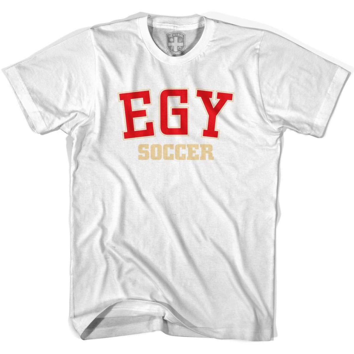 Egypt EGY Soccer Country Code T-shirt - White / Youth X-Small - Ultras Soccer T-shirts