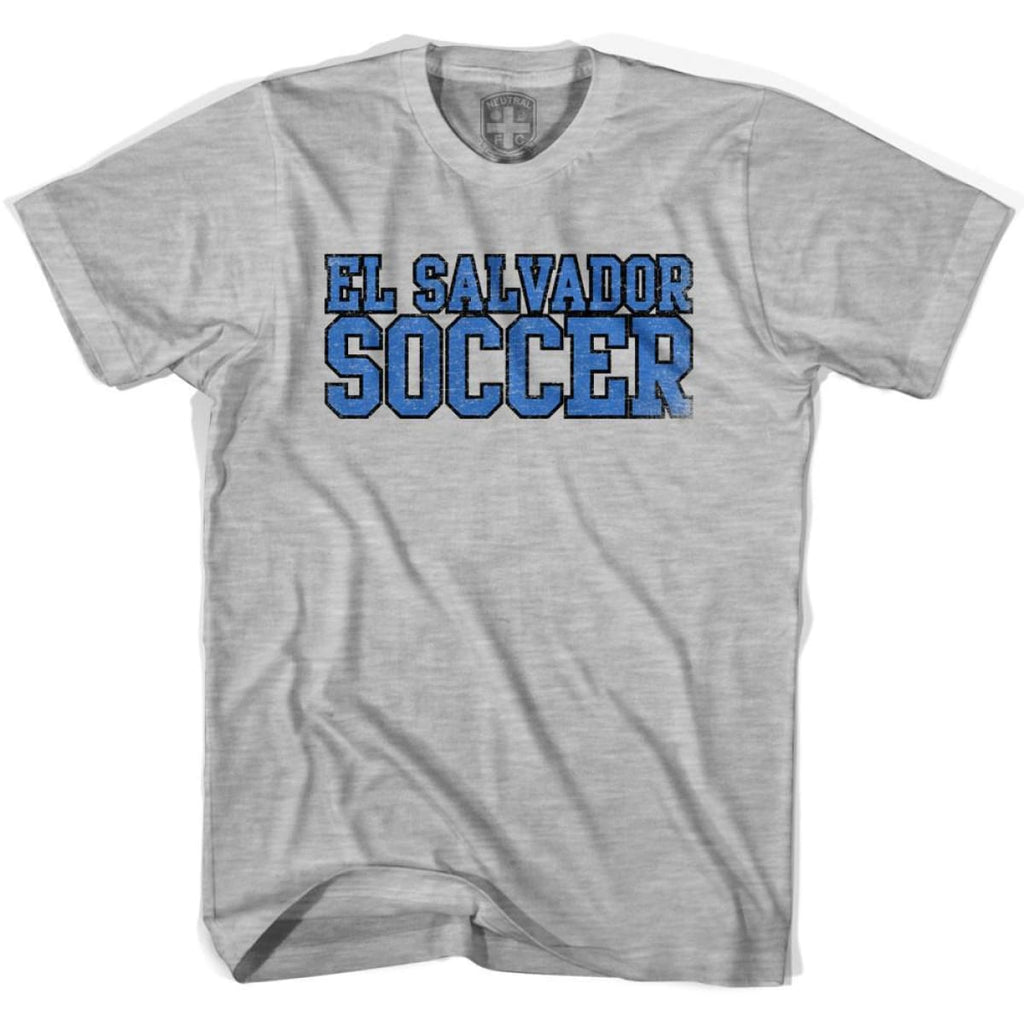 El Salvador Soccer Nations World Cup T-shirt - Grey Heather / Youth X-Small - Ultras Soccer T-shirts