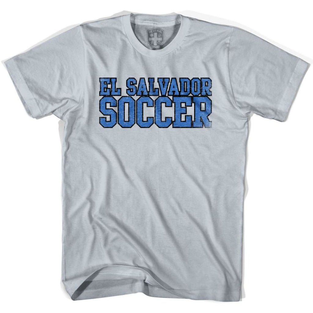 El Salvador Soccer Nations World Cup T-shirt - Silver / Youth X-Small - Ultras Soccer T-shirts