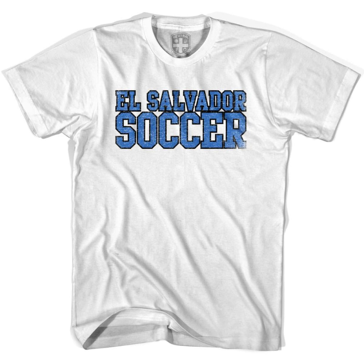 El Salvador Soccer Nations World Cup T-shirt - White / Youth X-Small - Ultras Soccer T-shirts