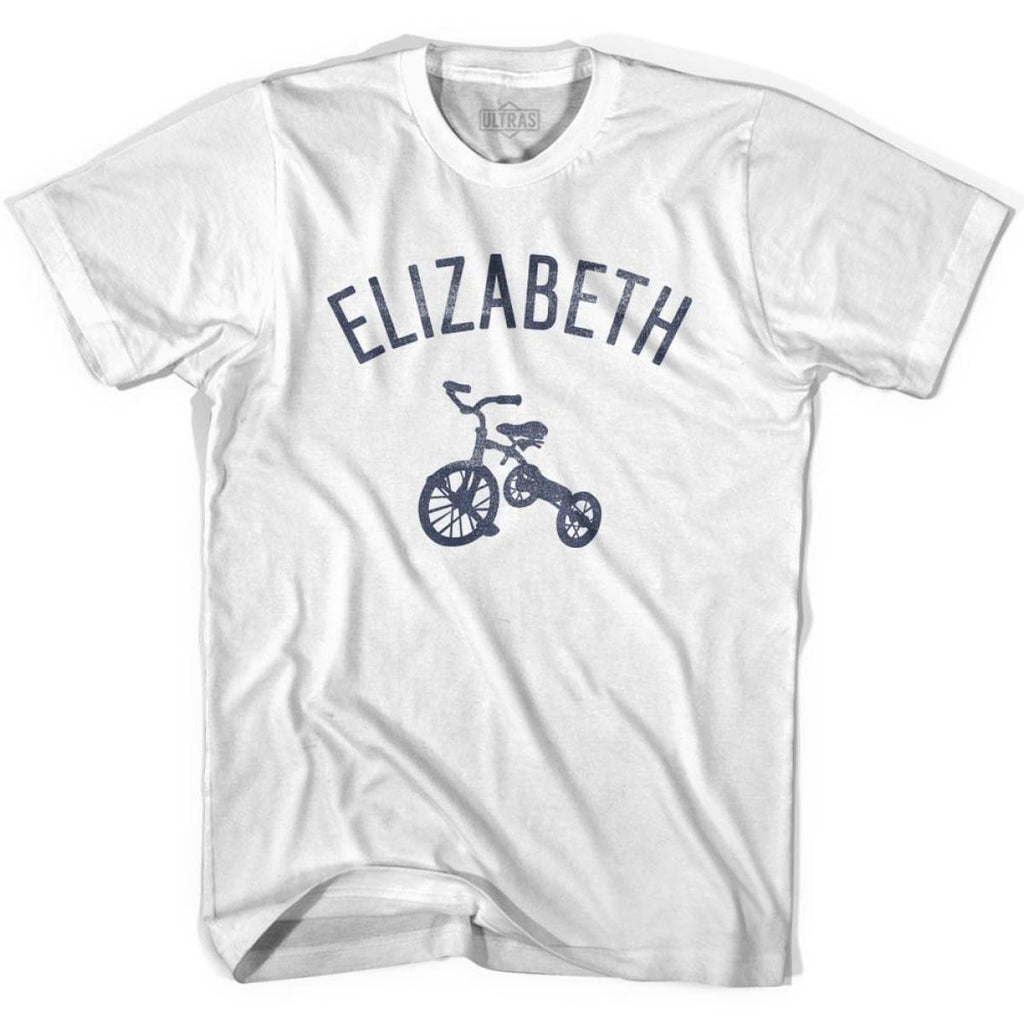 Elizabeth City Tricycle Womens Cotton T-shirt - Tricycle City