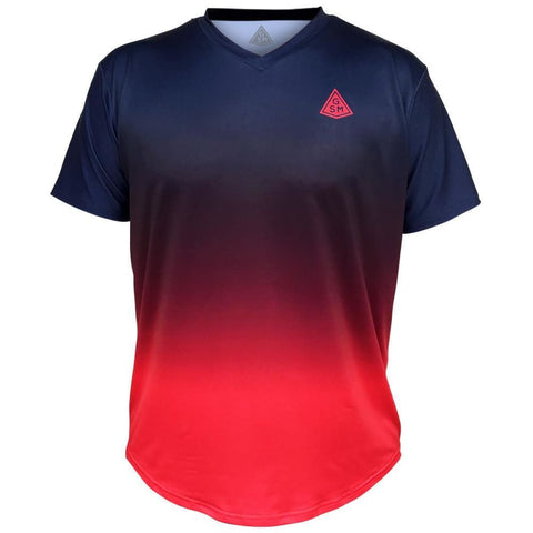 Endless GSM Tennis Shirt - Navy-Red / Youth X-Small / No - Tennis Shirts