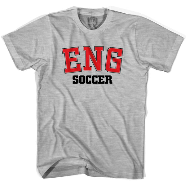 England ENG Soccer Country Code T-shirt - Grey Heather / Youth X-Small - Ultras Soccer T-shirts