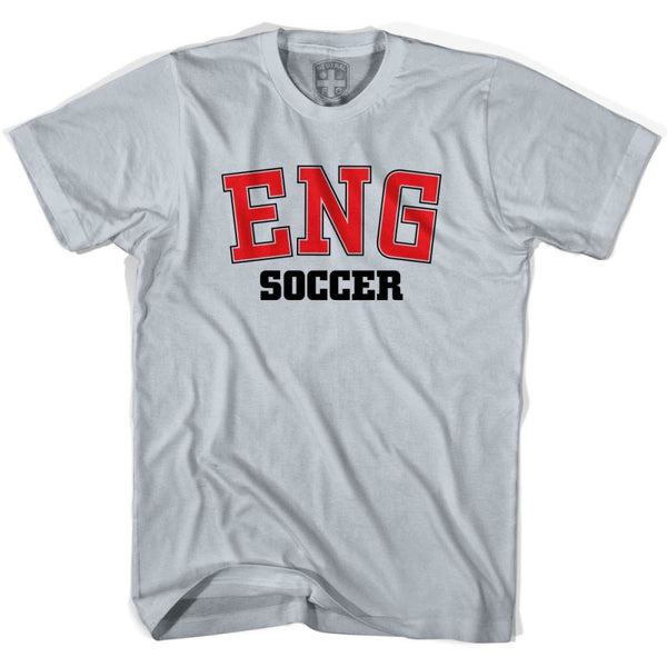 England ENG Soccer Country Code T-shirt - Silver / Youth X-Small - Ultras Soccer T-shirts