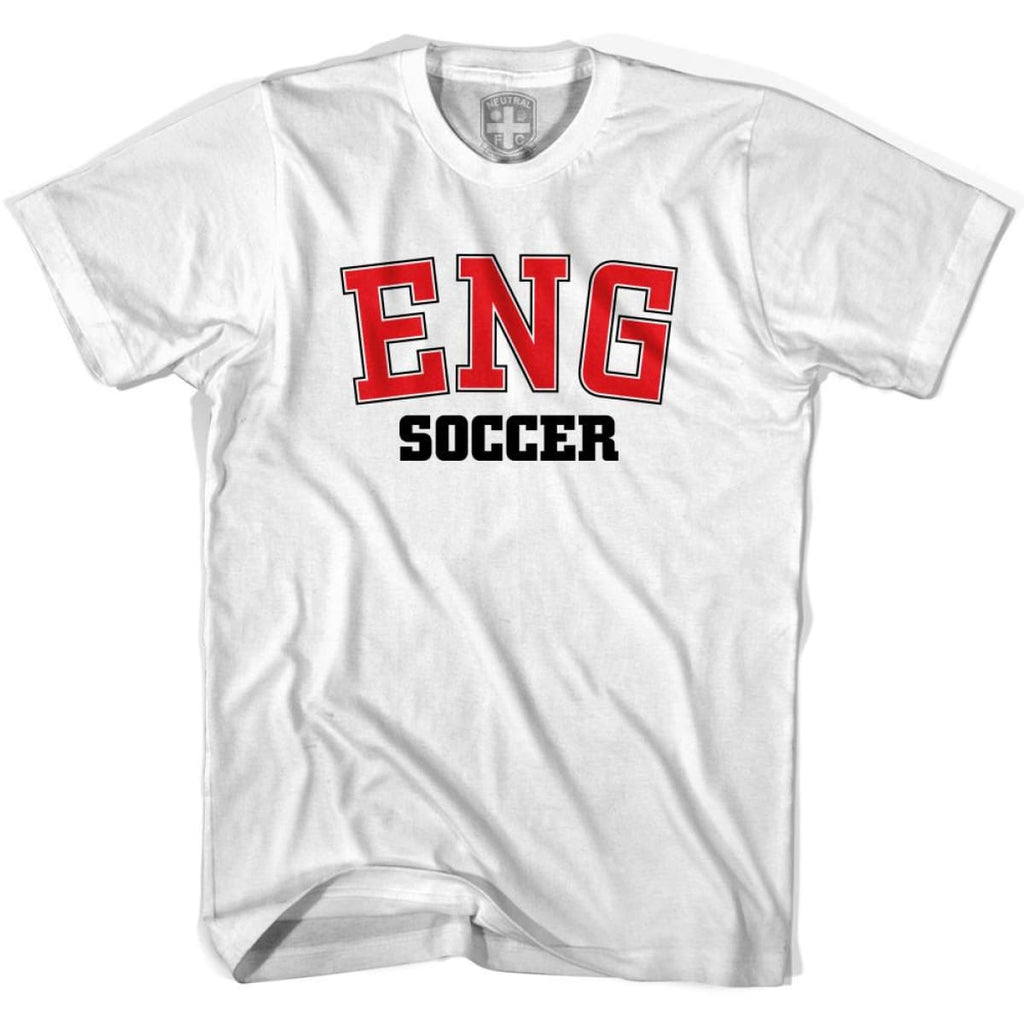 England ENG Soccer Country Code T-shirt - White / Youth X-Small - Ultras Soccer T-shirts