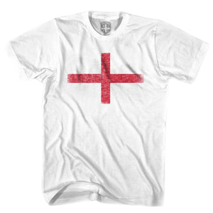 England Flag Cross T-shirt - White / Youth X-Small - Ultras Soccer T-shirts