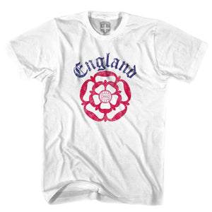England Football Rose T-Shirt - White / Youth X-Small - Ultras Soccer T-shirts
