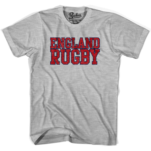 England Rugby Natons T-shirt - Heather Grey / Youth X-Small - Rugby T-shirt