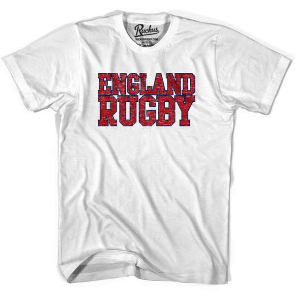 England Rugby Natons T-shirt - White / Youth X-Small - Rugby T-shirt